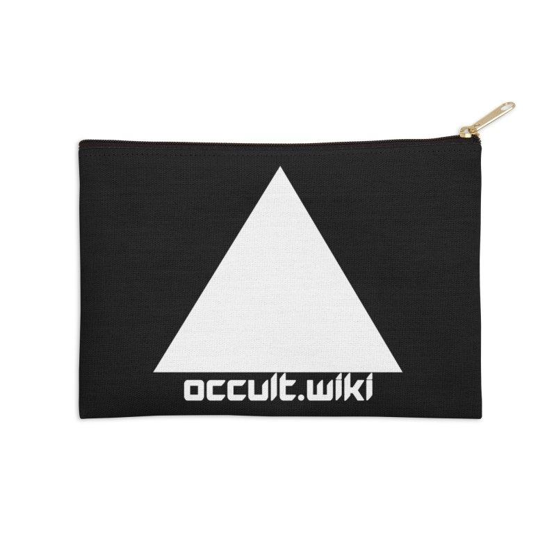 occult.wiki Logo Apparel - Dark Accessories Zip Pouch by Aspect Black™