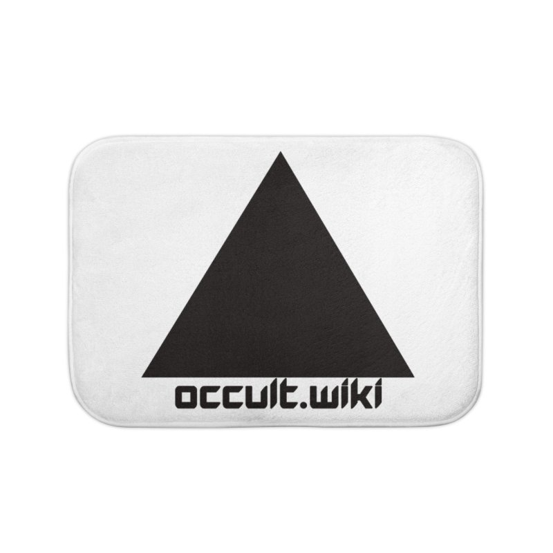 occult.wiki Logo Apparel - Light Home Bath Mat by Aspect Black™