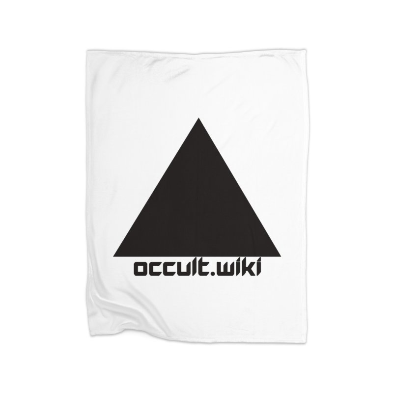 occult.wiki Logo Apparel - Light Home Fleece Blanket Blanket by Aspect Black™