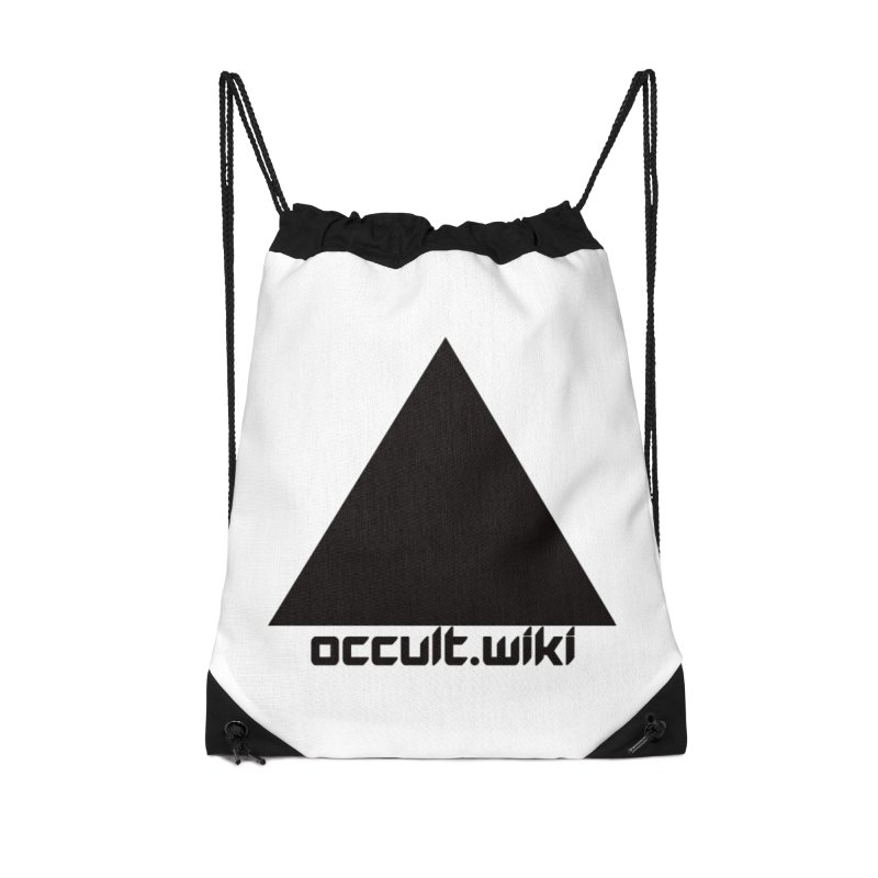 occult.wiki Logo Apparel - Light Accessories Drawstring Bag Bag by Aspect Black™