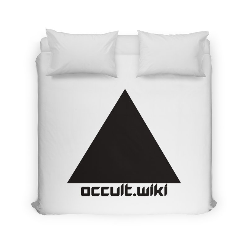 occult.wiki Logo Apparel - Light Home Duvet by Aspect Black™