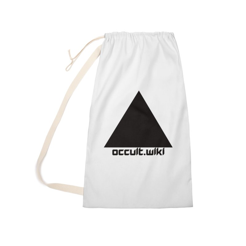 occult.wiki Logo Apparel - Light Accessories Laundry Bag Bag by Aspect Black™