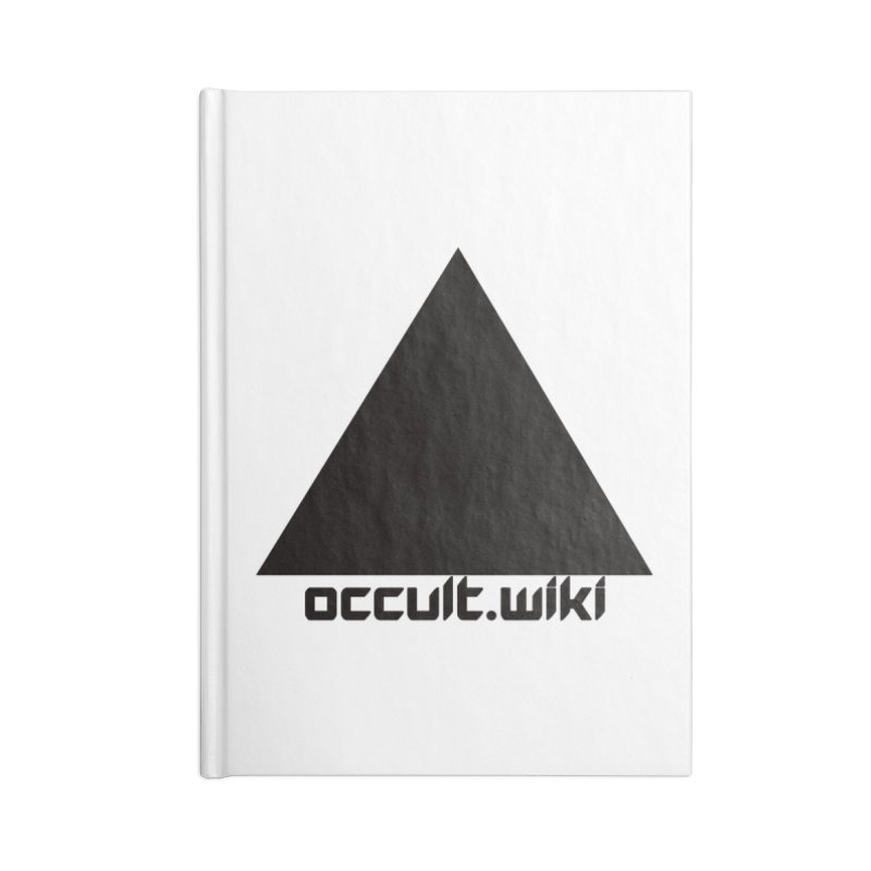 occult.wiki Logo Apparel - Light Accessories Blank Journal Notebook by Aspect Black™