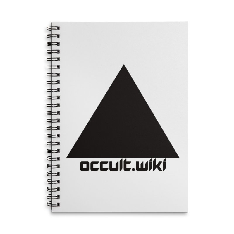 occult.wiki Logo Apparel - Light Accessories Lined Spiral Notebook by Aspect Black™