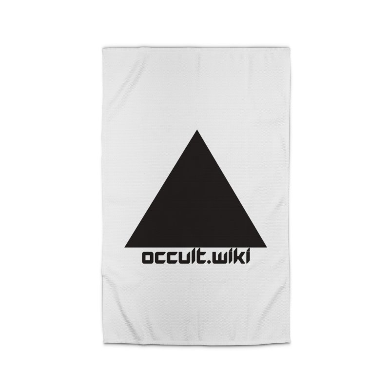 occult.wiki Logo Apparel - Light Home Rug by Aspect Black™