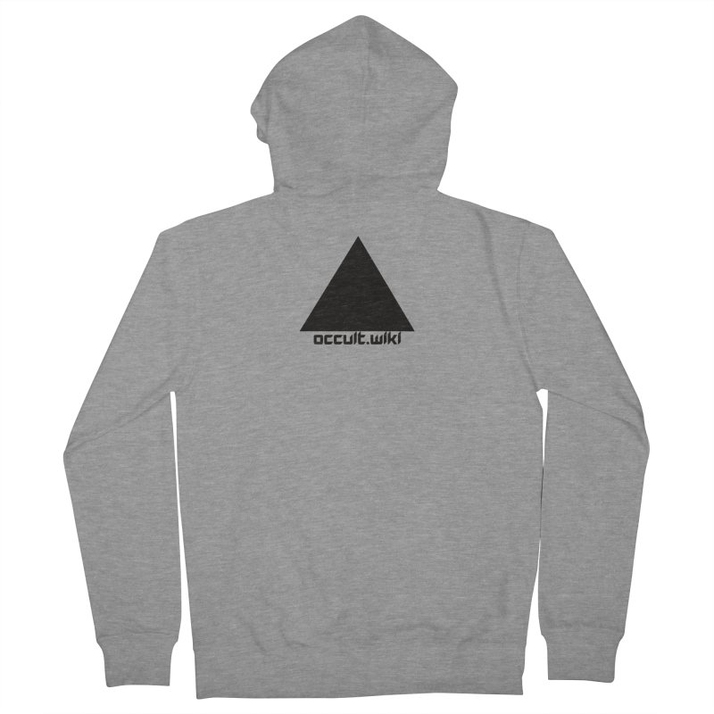 occult.wiki Logo Apparel - Light Women's French Terry Zip-Up Hoody by Aspect Black™
