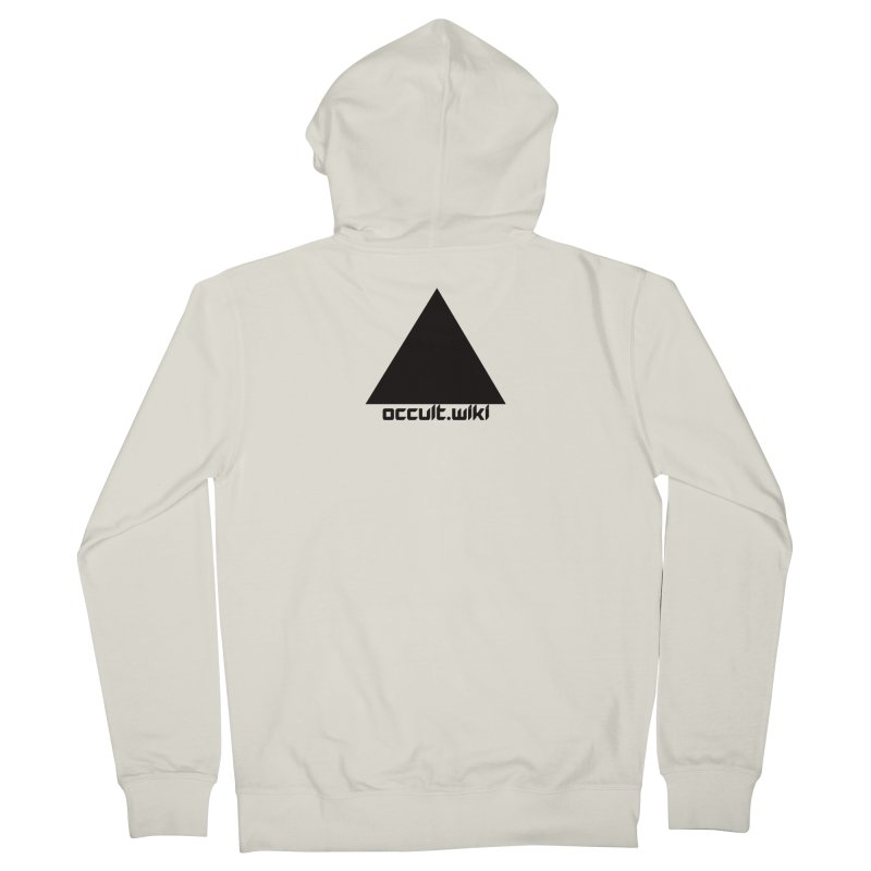 occult.wiki Logo Apparel - Light Men's Zip-Up Hoody by Aspect Black™