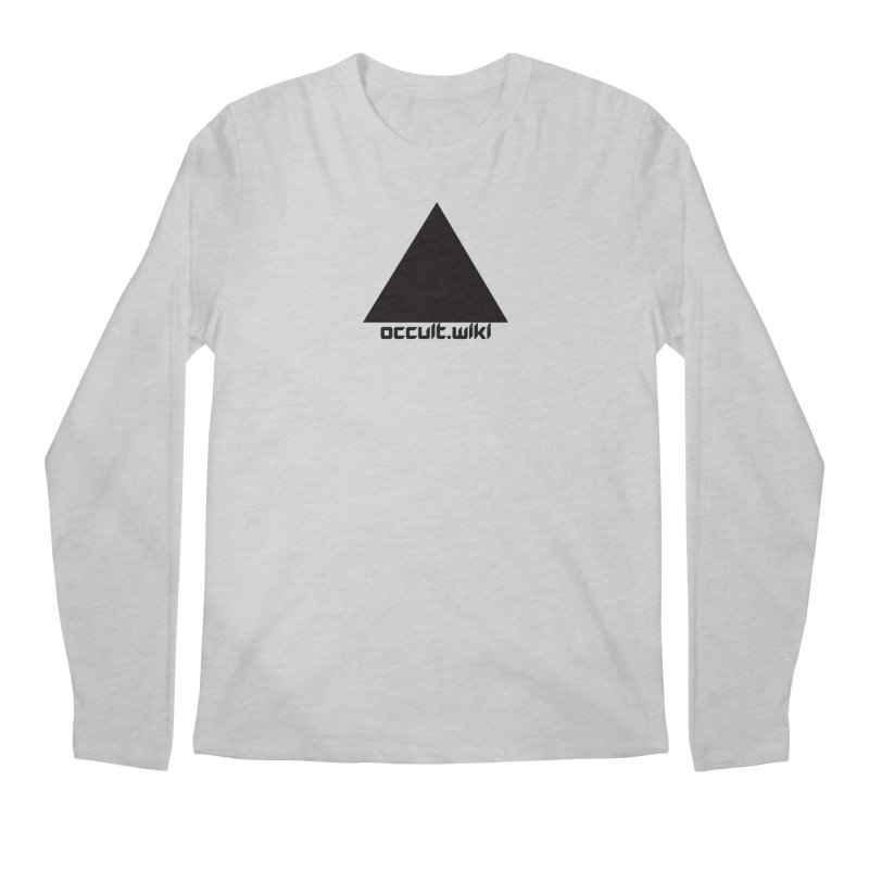 occult.wiki Logo Apparel - Light Men's Regular Longsleeve T-Shirt by Aspect Black™