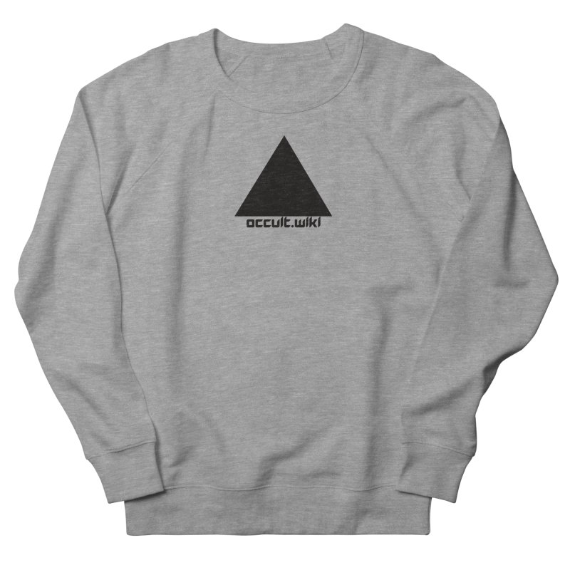 occult.wiki Logo Apparel - Light Women's French Terry Sweatshirt by Aspect Black™