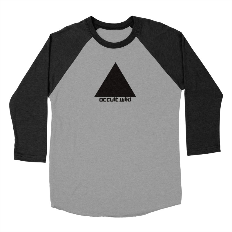 occult.wiki Logo Apparel - Light Women's Baseball Triblend Longsleeve T-Shirt by Aspect Black™