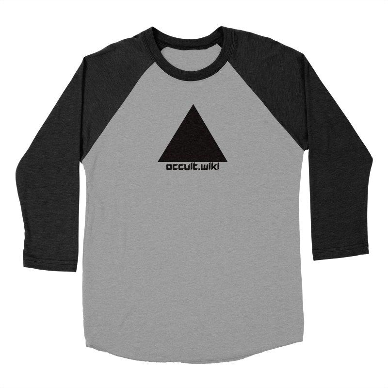 occult.wiki Logo Apparel - Light Men's Baseball Triblend Longsleeve T-Shirt by Aspect Black™
