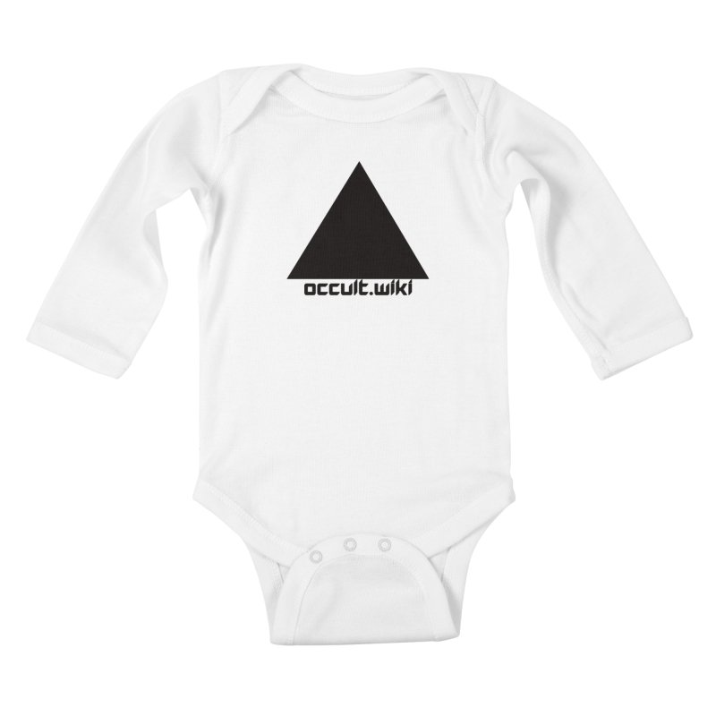 occult.wiki Logo Apparel - Light Kids Baby Longsleeve Bodysuit by Aspect Black™