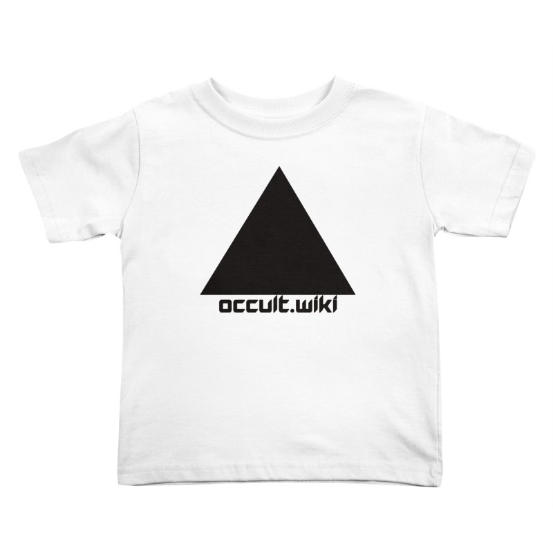 occult.wiki Logo Apparel - Light Kids Toddler T-Shirt by Aspect Black™