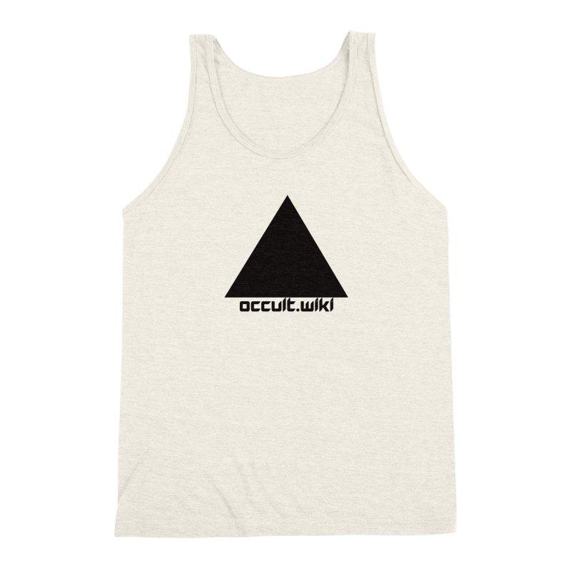 occult.wiki Logo Apparel - Light Men's Triblend Tank by Aspect Black™