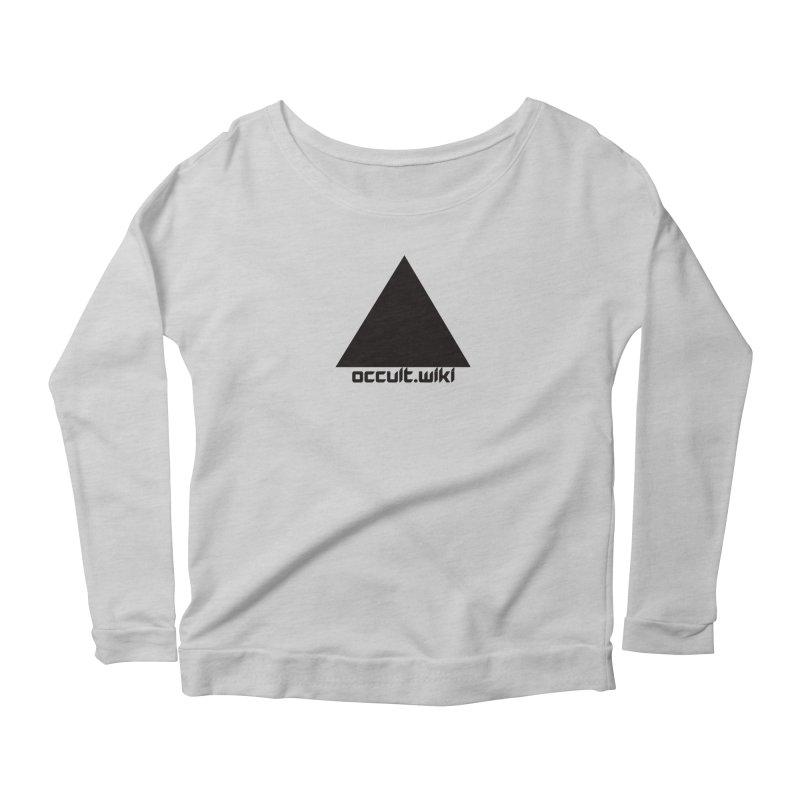 occult.wiki Logo Apparel - Light Women's Scoop Neck Longsleeve T-Shirt by Aspect Black™