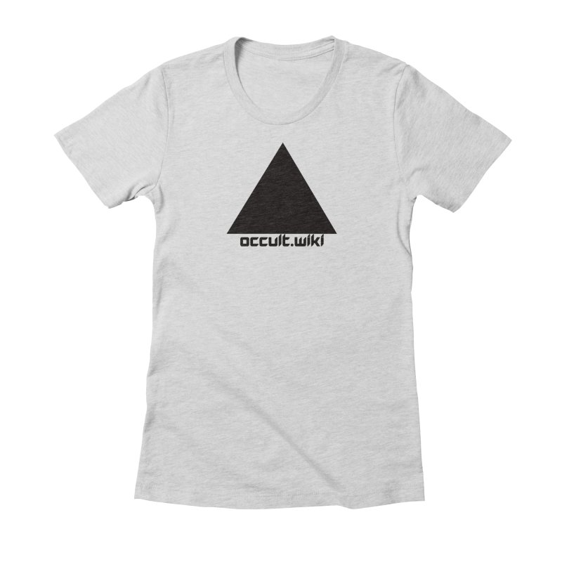 occult.wiki Logo Apparel - Light Women's Fitted T-Shirt by Aspect Black™