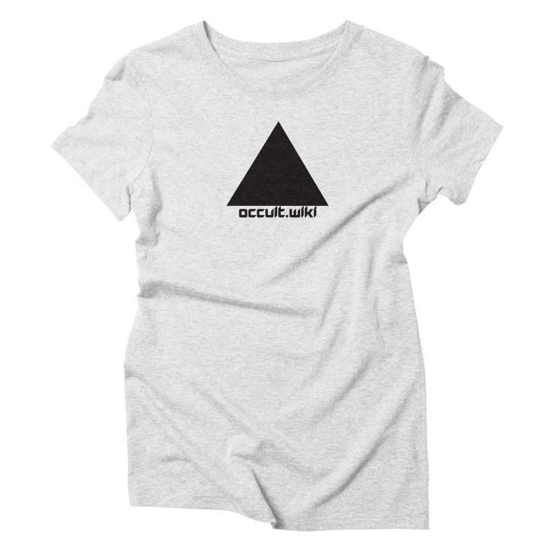 occult.wiki Logo Apparel - Light Women's Triblend T-Shirt by Aspect Black™
