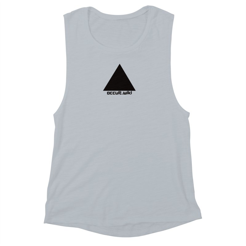 occult.wiki Logo Apparel - Light Women's Muscle Tank by Aspect Black™