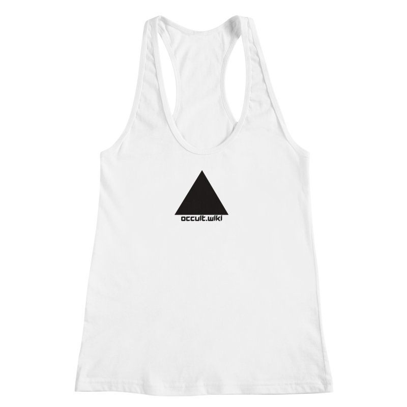 occult.wiki Logo Apparel - Light Women's Racerback Tank by Aspect Black™