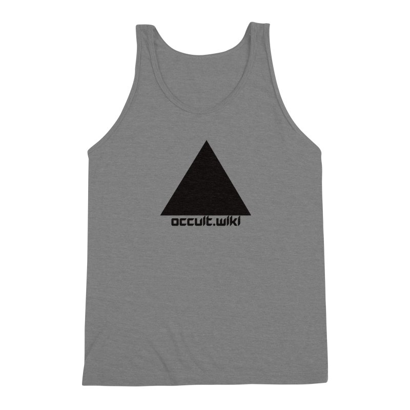 occult.wiki Logo Apparel - Light Men's Triblend Tank by Aspect Black™