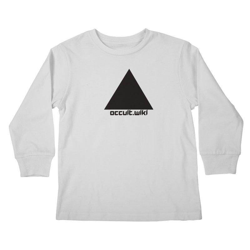 occult.wiki Logo Apparel - Light Kids Longsleeve T-Shirt by Aspect Black™