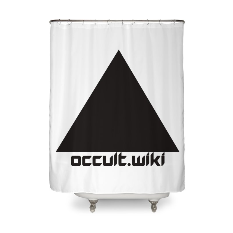 occult.wiki Logo Apparel - Light Home Shower Curtain by Aspect Black™