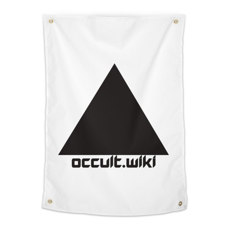 occult.wiki Logo Apparel - Light Home Tapestry by Aspect Black™