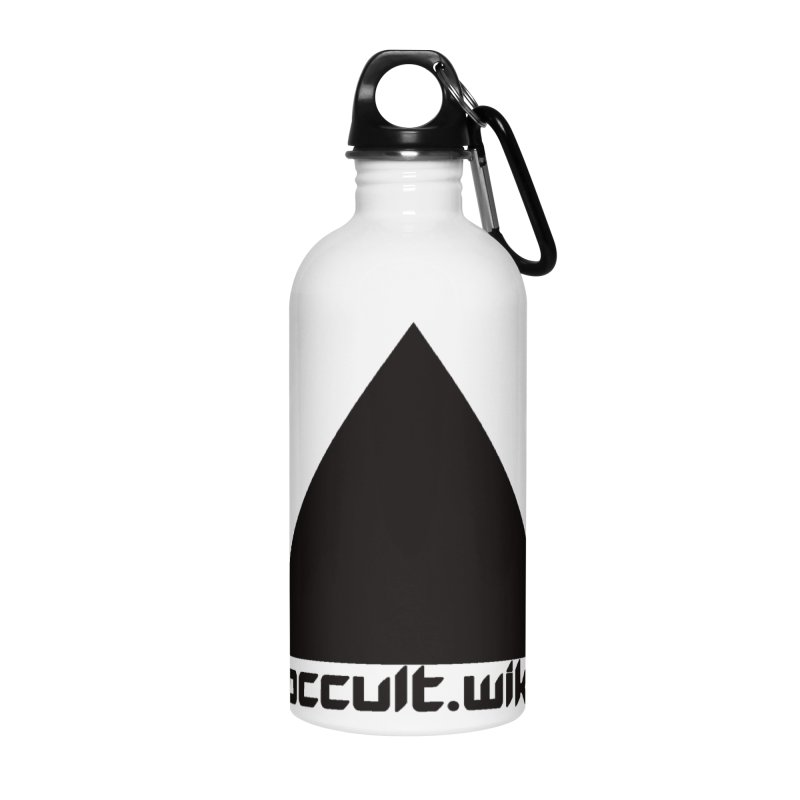 occult.wiki Logo Apparel - Light Accessories Water Bottle by Aspect Black™