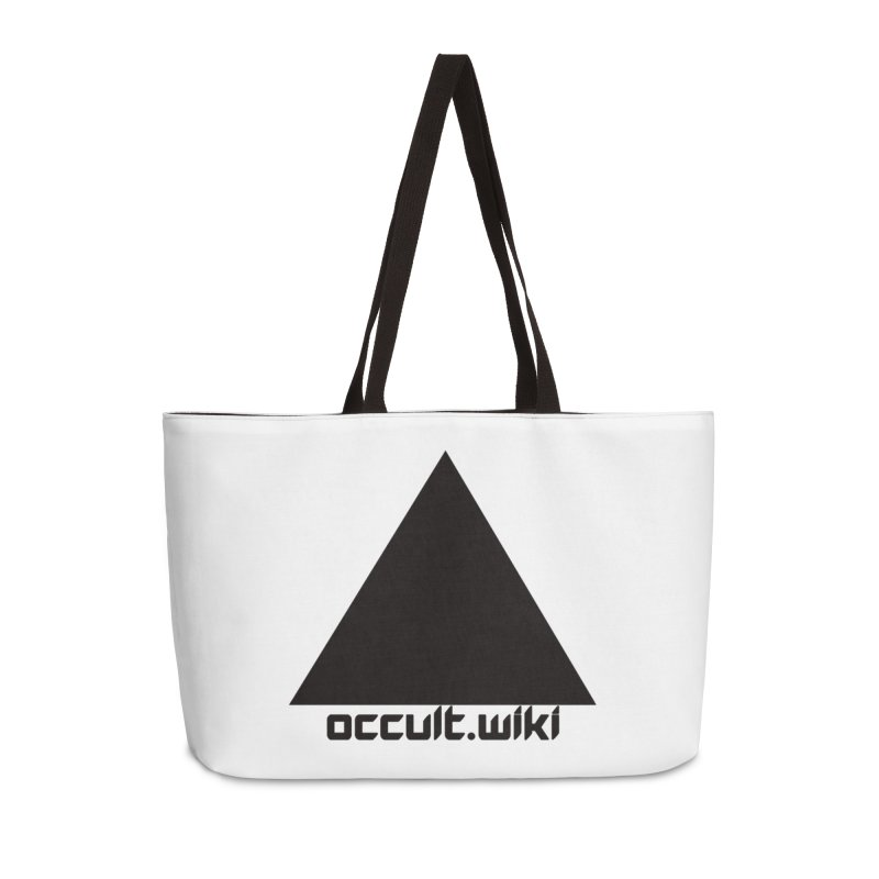 occult.wiki Logo Apparel - Light Accessories Weekender Bag Bag by Aspect Black™