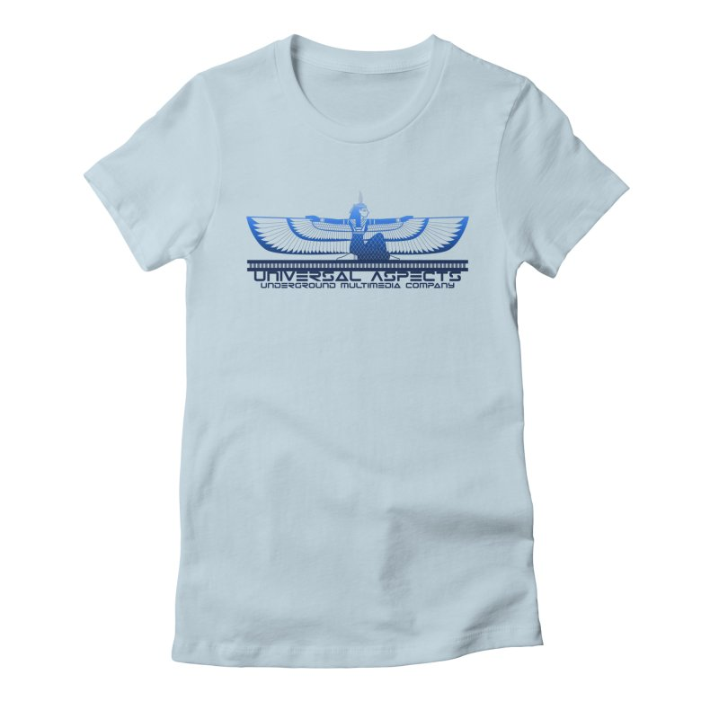 Universal Aspects™ Maat Goddess Accessories Women's Fitted T-Shirt by Aspect Black™