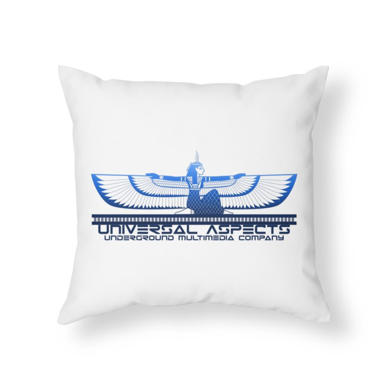 Universal Aspects™ Maat Goddess Accessories Home Throw Pillow by Aspect Black™