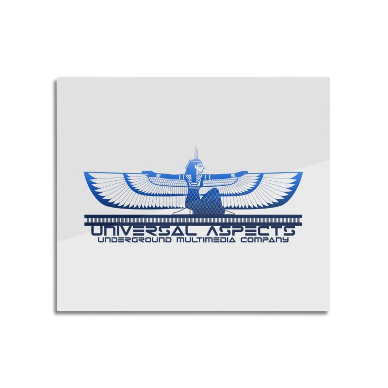 Universal Aspects™ Maat Goddess Accessories Home Mounted Aluminum Print by Aspect Black™