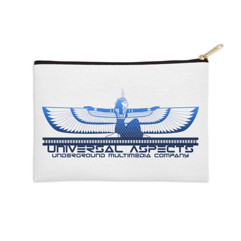 Universal Aspects™ Maat Goddess Accessories Accessories Zip Pouch by Aspect Black™