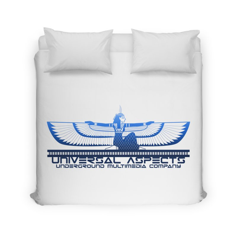 Universal Aspects™ Maat Goddess Accessories Home Duvet by Aspect Black™