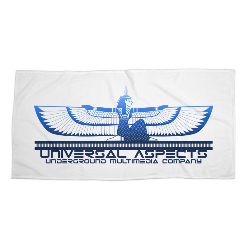 Universal Aspects™ Maat Goddess Accessories Accessories Beach Towel by Aspect Black™