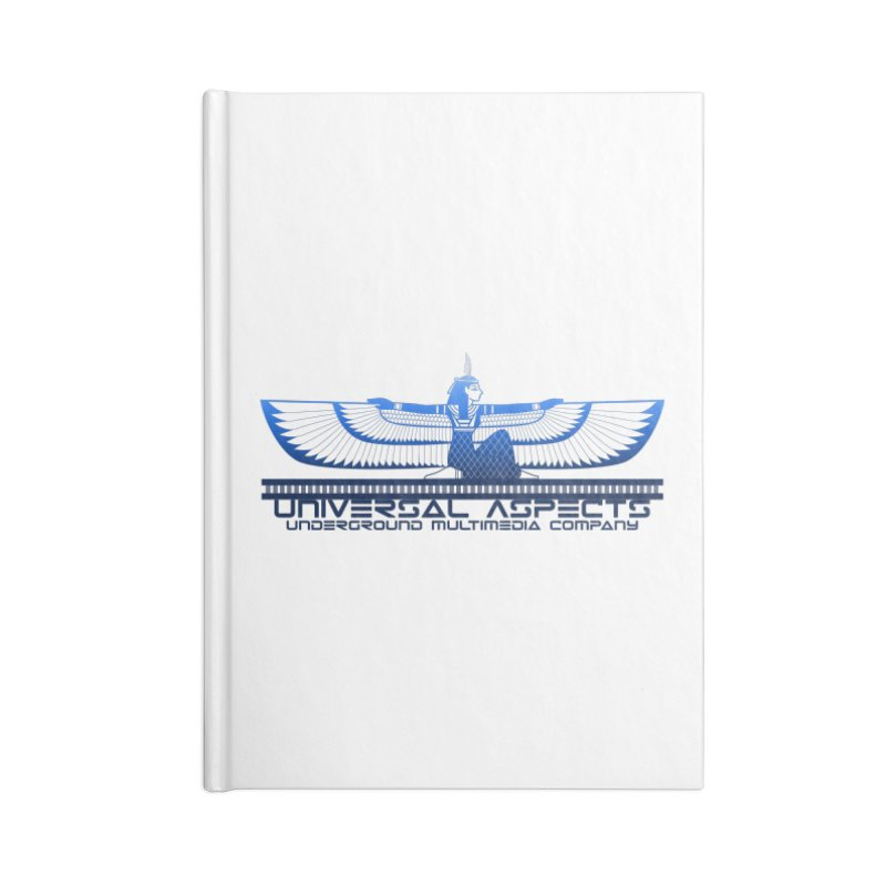 Universal Aspects™ Maat Goddess Accessories Accessories Notebook by Aspect Black™
