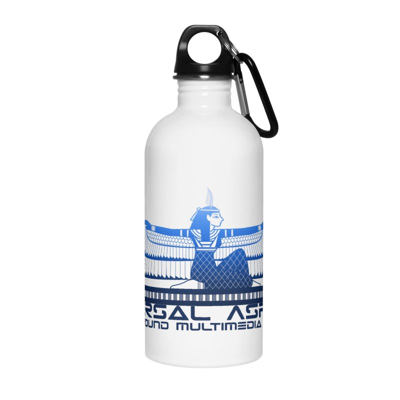 Universal Aspects™ Maat Goddess Accessories Accessories Water Bottle by Aspect Black™