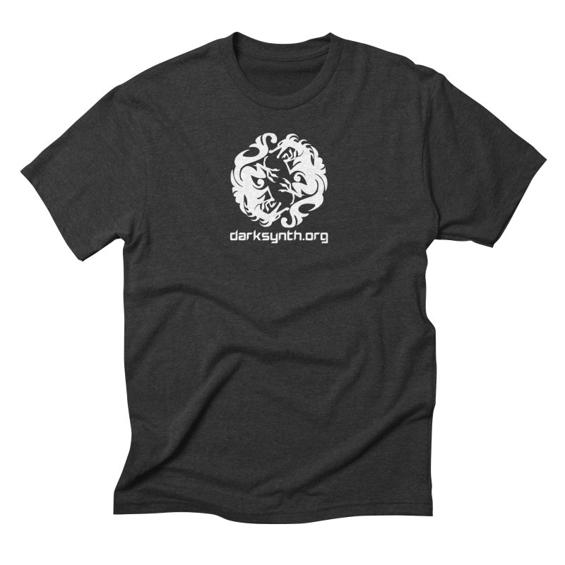 DarkSynth.org Dragon Yin Yang - Dark Men's Triblend T-Shirt by Aspect Black™