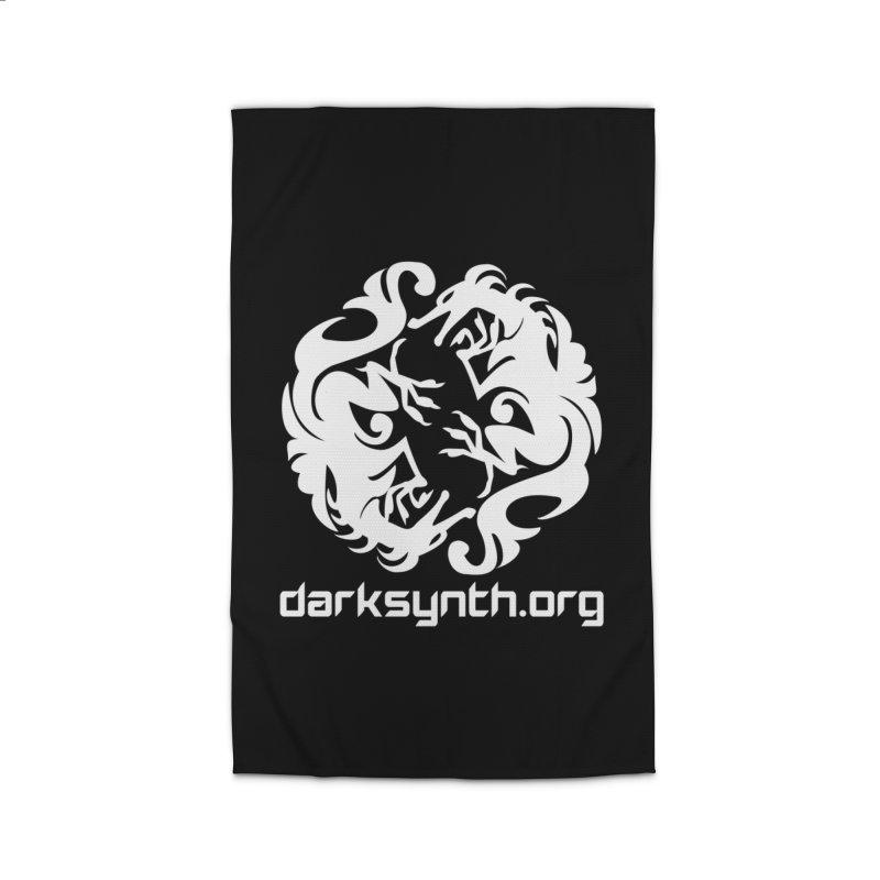 DarkSynth.org Dragon Yin Yang - Dark Home Rug by Aspect Black™