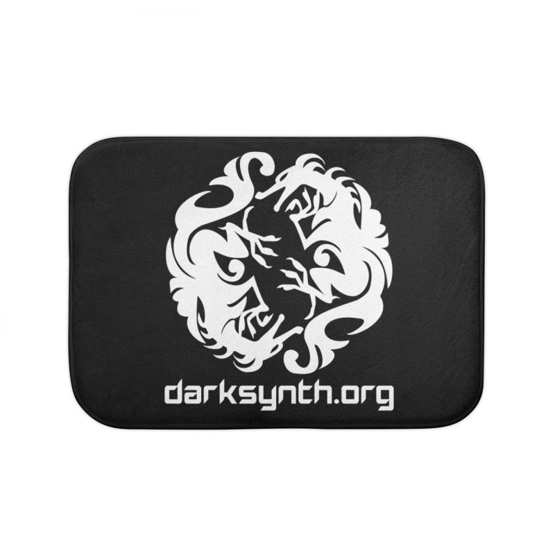 DarkSynth.org Dragon Yin Yang - Dark Home Bath Mat by Aspect Black™