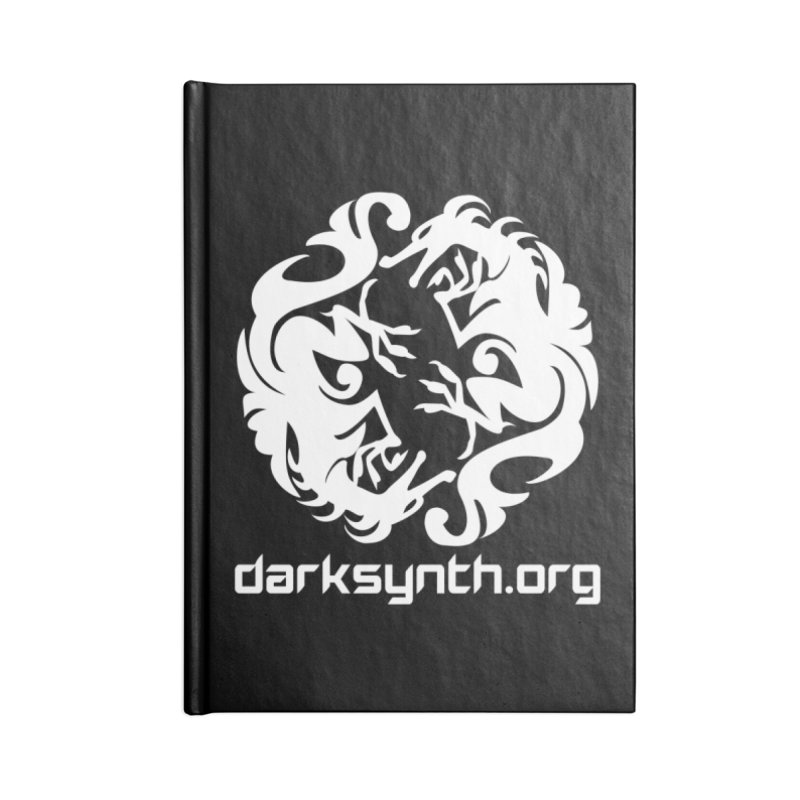 DarkSynth.org Dragon Yin Yang - Dark Accessories Notebook by Aspect Black™