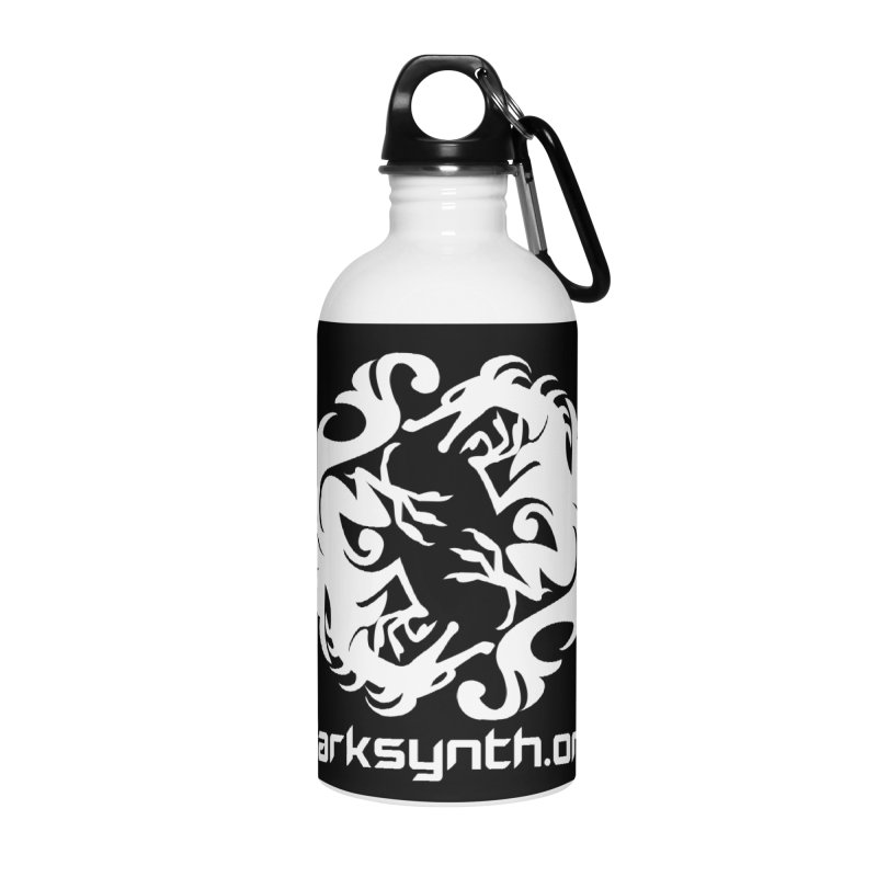 DarkSynth.org Dragon Yin Yang - Dark Accessories Water Bottle by Aspect Black™