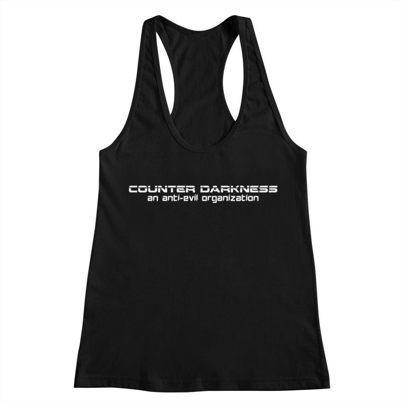 CounterDarkness.org Shirts Women's Racerback Tank by Aspect Black™
