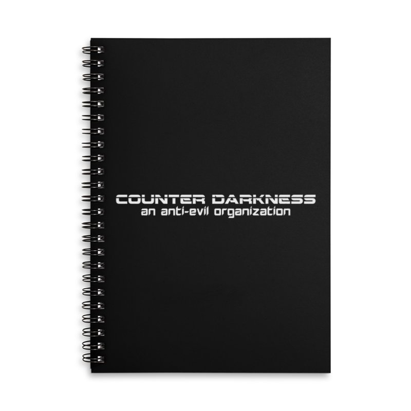 CounterDarkness.org Shirts Accessories Lined Spiral Notebook by Aspect Black™