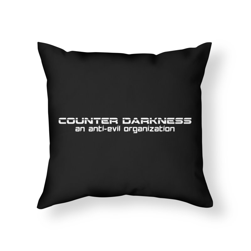 CounterDarkness.org Shirts Home Throw Pillow by Aspect Black™