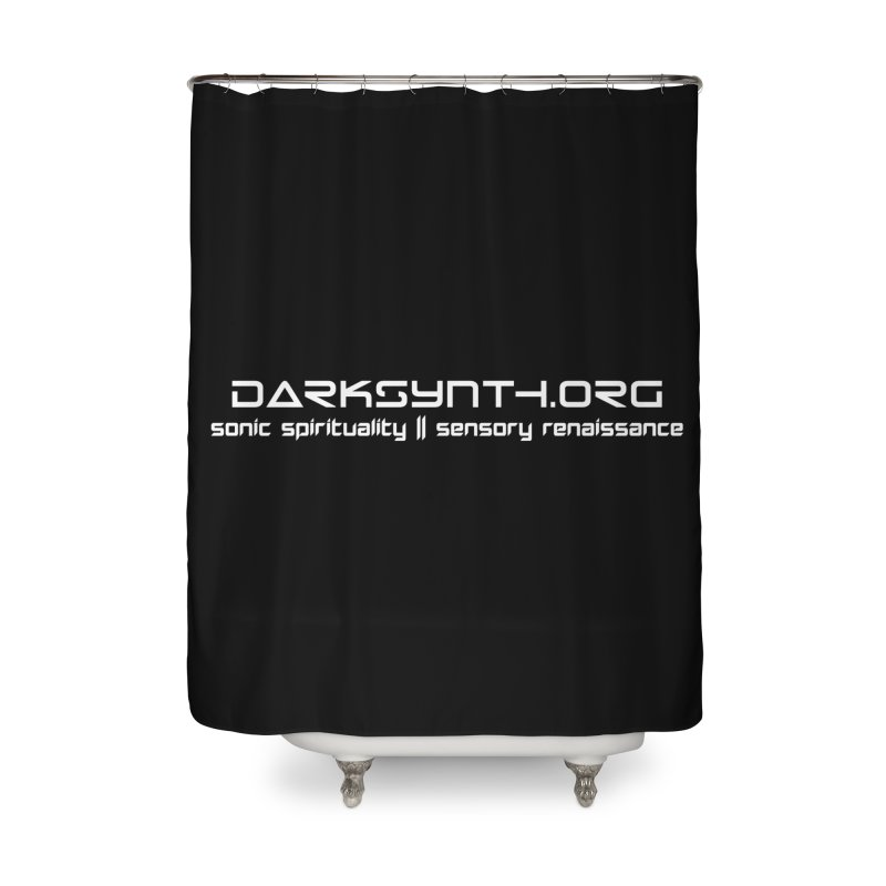 DarkSynth.org - Sonic Spirituality Home Shower Curtain by Aspect Black™