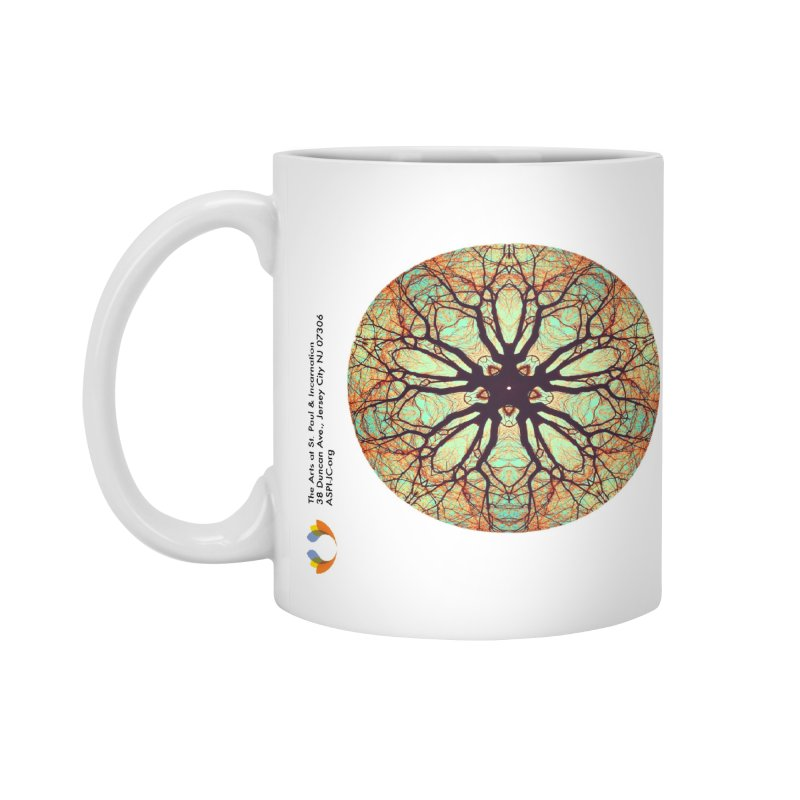 Amy Neufeld - Green Tree Mandala Accessories Mug by The Arts at St. Paul & Incarnation's Artist Shop
