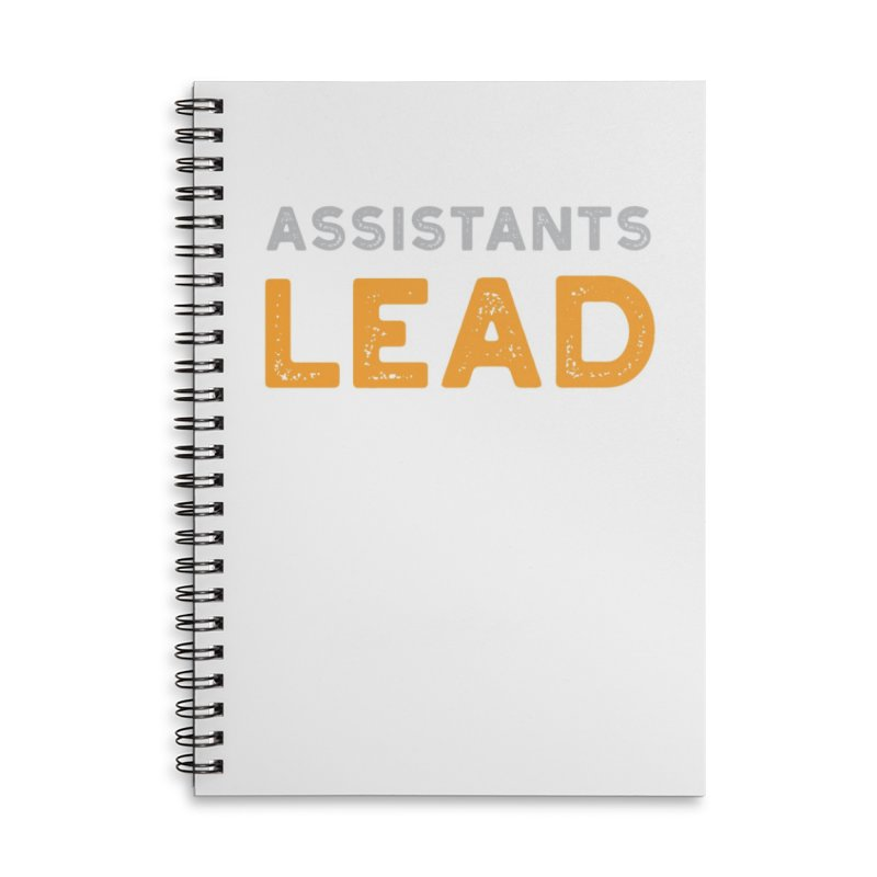 Assistants Lead Swag Accessories Notebook by The Leader Assistant