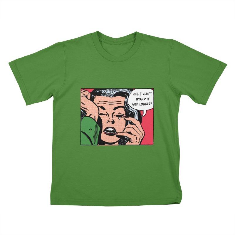 Popmodern Woman Kids T-Shirt by Nearly Astonishing Designs