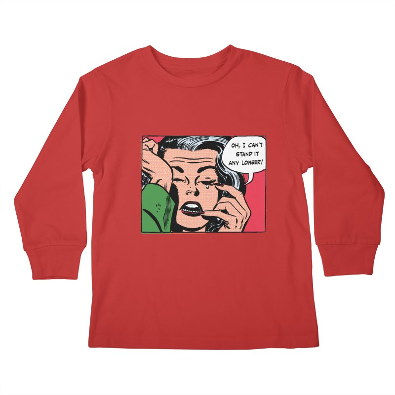 Popmodern Woman Kids Longsleeve T-Shirt by Nearly Astonishing Designs